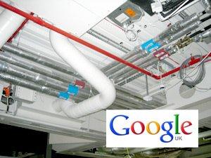 CeilCote ceiling spraying Google Offices