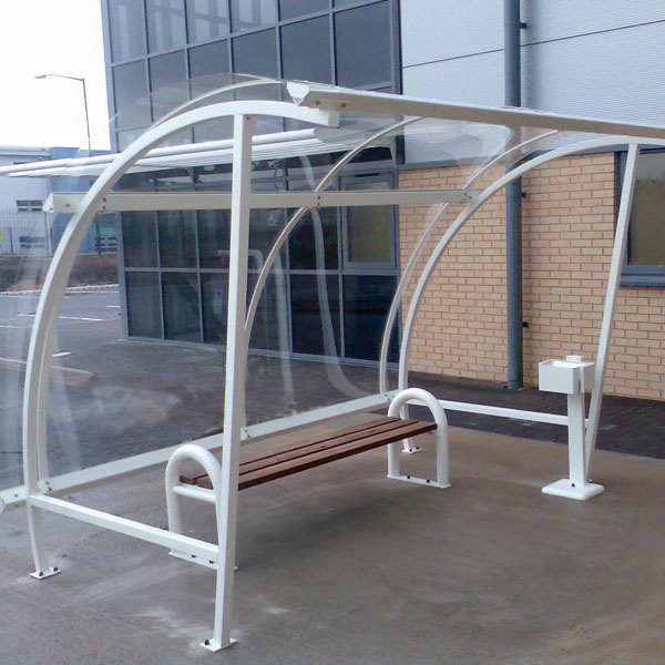 Metal Smoking Shelters : Smoke shelters sheds enclosures spray painted by