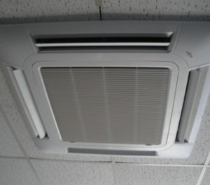 here is a photo of an air conditioning cassette spray painted by ceilcote.com
