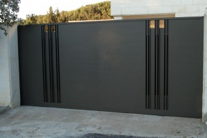 secuity gates sprayed