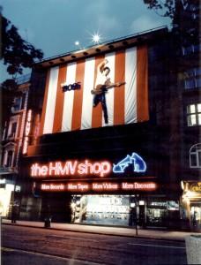 Ceilcote respray shopfront at HMV Oxford Street London.