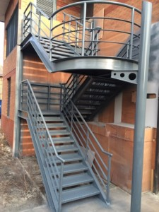 staircase spray painting