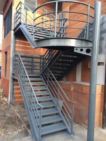 Onsite Spray Painting Metal Staircases Sprayed By CEILCOTE