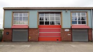 Warehouse Before Cladding Spray Decoration