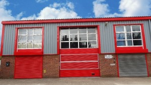 Warehouse Unit After Cladding Spray Painting Works By CeilCote