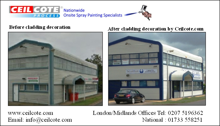 Cladding decoration by Ceilcote before and after photos