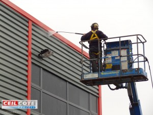 Power wash cladding to get it really clean