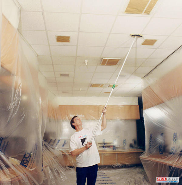Industrial Ceiling Cleaning : Ceiling spray painting for commercial premises ceilcote