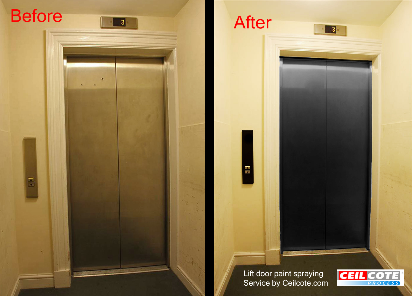 Spray painting lift door by ceilcote for How to spray paint doors