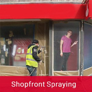 Shopfront Spraying