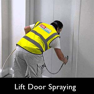 Life Door Spraying