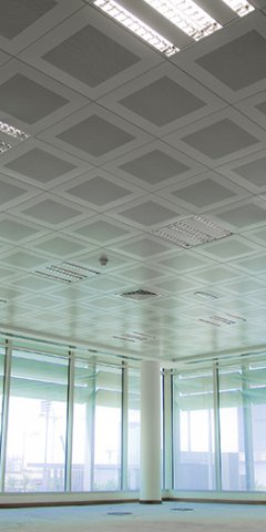 Metal Ceiling Spraying by CeilCote – 01733 588251 / 0207 519 6362